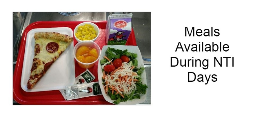 Student Meals Available during NTI Days