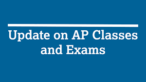 an image of the words AP class and exams update