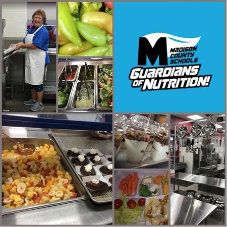 MCS Food Service colllage of pictures taken across the district.