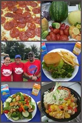 Collage of food options from the MCS Summer Food progroma