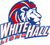 WHE logo: Lion head over the name of the school