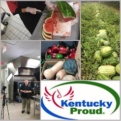 KY proud MCS collage of photos from the farm to the table.
