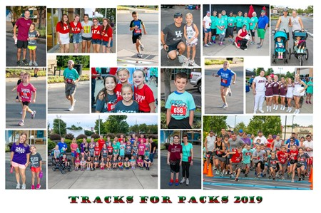 Collage of 2019 Tracks for Pack 5K Run.