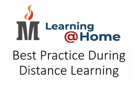 Title Best Practice During Distance Learning, with the MCS logo and title Learning@HOME